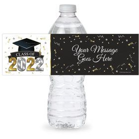 Graduation Year Personalized Bottle Label (Sheet of 4)