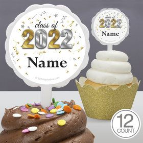 Graduation Year Personalized Cupcake Picks (12 Count)