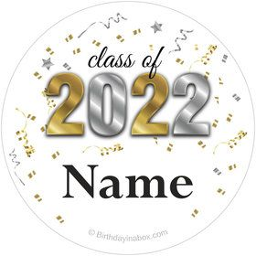 Graduation Year Personalized Mini Stickers (Sheet of 24)