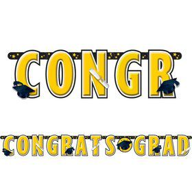 Graduation Yellow 10' Letter Banner (Each)