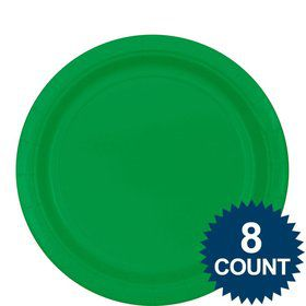 Green 9 ?Paper Luncheon Plates (8 Pack)