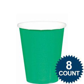Green 9oz. Paper Cups (8 Pack)