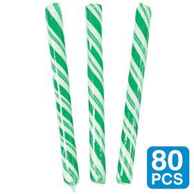 "Green Apple 5"" Candy Sticks (80 Pack)"