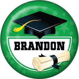 Green Grad Personalized Button (Each)