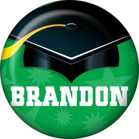 Green Grad Personalized Mini Button (Each)