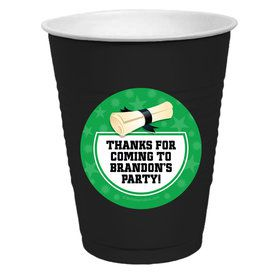 Green Grad Personalized Party Cups (50)