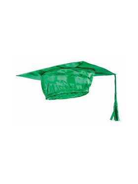 Green Graduation Adult Cap - One-Size