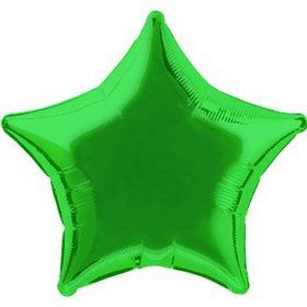 Green Star Mylar Balloon (each)