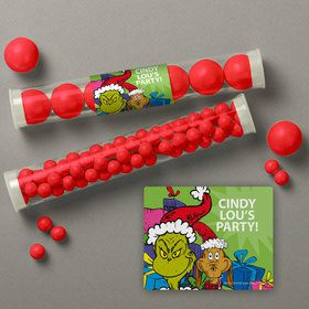 Grinch Personalized Candy Tubes (12 Count)