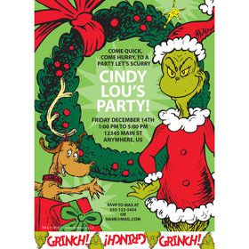 Grinch Personalized Invitation (Each)