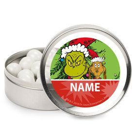 Grinch Personalized Mint Tins (12 Pack)