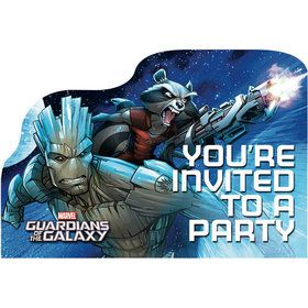 Guardians Of The Galaxy Postcard Invitations (8 Count)