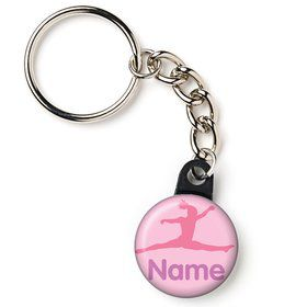 "Gymnastics Personalized 1"" Mini Key Chain (Each)"