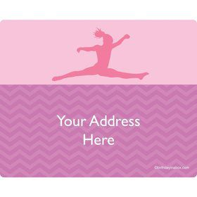 Gymnastics Personalized Address Labels (Sheet of 15)