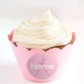 Gymnastics Personalized Cupcake Wrappers (Set of 24)