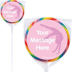 Gymnastics Personalized Lollipops (12 Pack)