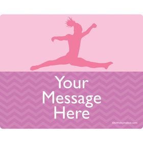 Gymnastics Personalized Rectangular Stickers (Sheet of 15)