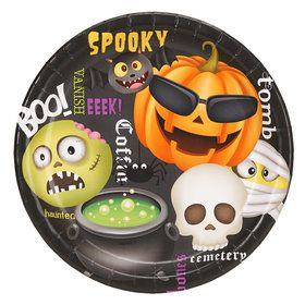 Halloween Emoji Dinner Plate (8)