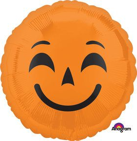 Halloween Pumpkin Emoji Foil Balloon