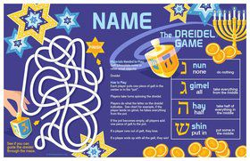 Hanukkah Personalized Activity Mat (8 Pack)
