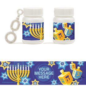 Hanukkah Personalized Bubbles (18 Pack)