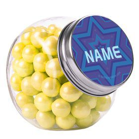Hanukkah Personalized Plain Glass Jars (10 Count)