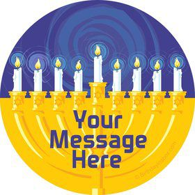 Hanukkah Personalized Stickers (Sheet of 12)