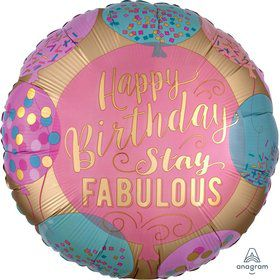 Happy Birthday Stay Fabulous 18 Foil Balloon