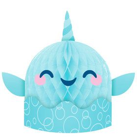 Happy Narwhal Honeycomb Centerpiece