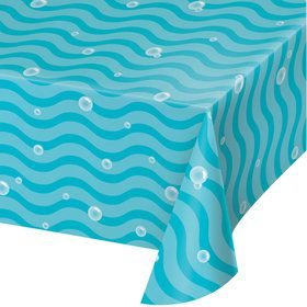 Happy Narwhal Plastic Table Cover