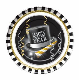 "Happy New Year 9"" Plates (8)"