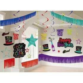 Happy New Year Colorful Room Decorating Set
