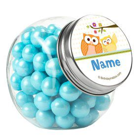 Happy Tree Personalized Plain Glass Jars (10 Count)