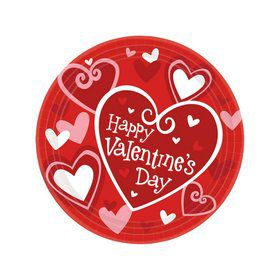Happy Valentines Day Dessert Plates (8)