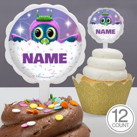 Hatching Animals Personalized Cupcake Picks (12 Count)