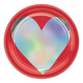 Heart Day Iridescent Dessert Plates (8)