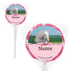 "Heart My Horse Personalized 2"" Lollipops (20 Pack)"