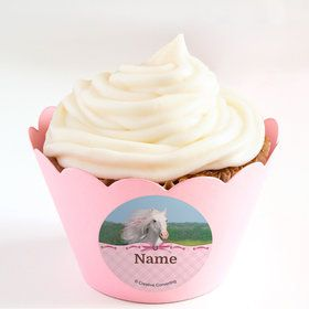 Heart My Horse Personalized Cupcake Wrappers (Set of 24)