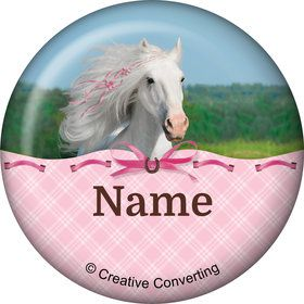 Heart My Horse Personalized Mini Button (Each)