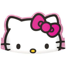 "Hello Kitty Rainbow 6"" Paper Tiaras (8 Pack)"