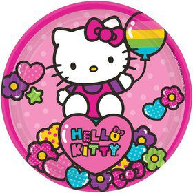 "Hello Kitty Rainbow 7"" Cake Plates (8 Pack)"