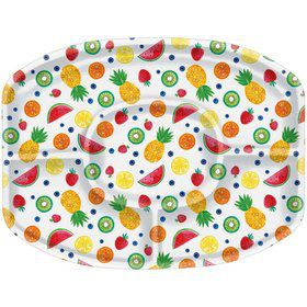 Hello Summer Sectional Plastic Platter