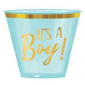 Hello World Boy 9oz Plastic Tumblers