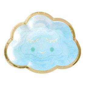 Hello World Boy Cloud Shaped Plates (8)