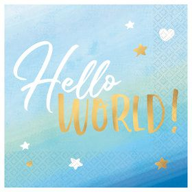 Hello World Boy Lunch Napkins (16)