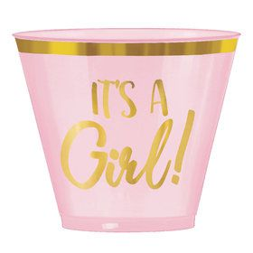 Hello World Girl 9oz Plastic Tumblers