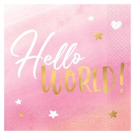 Hello World Girl Lunch Napkins (16)