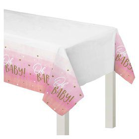 Hello World Girl Plastic Table Cover