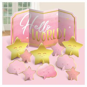 Hello World Girl Table Centerpiece Decoration Kit