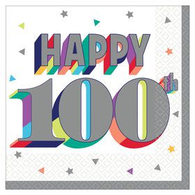 Here's to Your 100th Birthday Beverage Napkins (16)